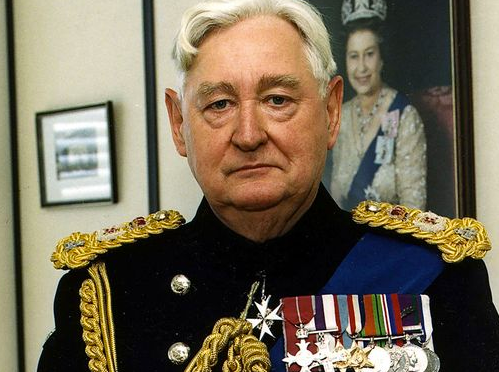 Queen Elizabeth welcomes Bramall just weeks after a dawn raid by 20 police officers involving sex abuse allegations
